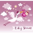 Cartoon baby background vector image vector image