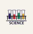 chemical vial science banner vector image vector image