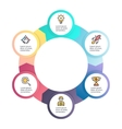 Circular infographics Business diagram with 6 vector image vector image