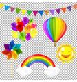 color kids set vector image vector image