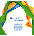 colorful abstract design vector image vector image