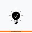 creative idea icon sign web business solid vector image