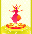 dancing onam holiday vector image vector image