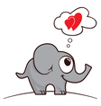 Elephant in love vector image