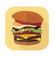 Fastfood Burger Set 1 vector image vector image