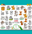 find one of a kind game with cat characters vector image vector image