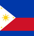 flag of the philippines vector image vector image