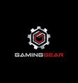 gaming gear logo symbol vector image