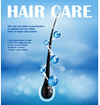 hair nourishing shampoo ads design concept ends vector image vector image