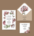 hand drawn sketch wedding peony vector image