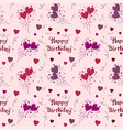 happy birthday pattern background vector image vector image