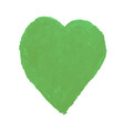 heart shape drawn with green vector image vector image