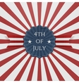 Independence Day 4th of July Holiday Badge vector image vector image