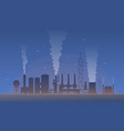 industrial landscape with factory pollution air vector image
