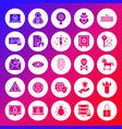 internet security solid circle icons vector image vector image
