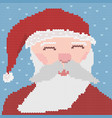 knitted santa vector image vector image