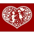 love the couple inside the heart vector image vector image