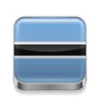Metal icon of Botswana vector image vector image