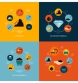 Mining icons flat composition vector image vector image
