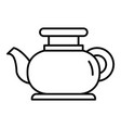 modern tea pot icon outline style vector image