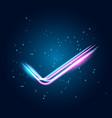 neon glowing techno lines vector image vector image