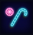 neon sweet - candy cane vector image vector image