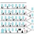 office social distancing vector image vector image