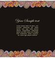 paisley background and place for your text vector image vector image