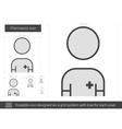 Pharmacist line icon vector image vector image