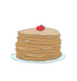 plate with pancakes vector image