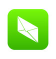 postal letter icon green vector image