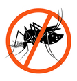 Prohibition sign for stop Mosquito vector image