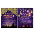 ramadan kareem greeting card and poster design vector image vector image