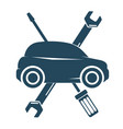 repair auto with tool symbol vector image vector image