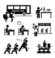 school activity event for student stick figure vector image vector image