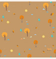 seamless autumn pattern trees sun and drops of vector image vector image