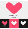 Set of 4 heart logo vector image