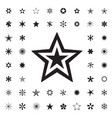 set of black stars vector image vector image