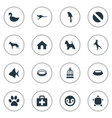set of simple fauna icons vector image vector image