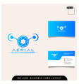 simple concept drone aerial logo design vector image
