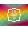 Summer frame card background vector image