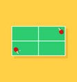 table tennis for ping pong top view vector image