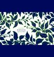 tea floral plant bio card fresh matcha vector image