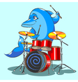 The dolphin is the jazz the drummer vector image vector image