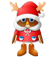 The image owl with Santa reindeer vector image vector image