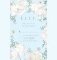 tulip rsvp card blue vector image