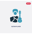 two color guitar player icon from professions vector image