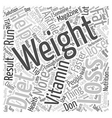 Weight Loss Tips Guaranteed To Help You Lose vector image vector image