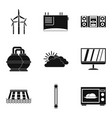 wind farm icons set simple style vector image vector image