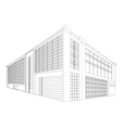 Wireframe modern building vector image vector image